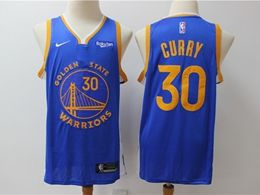 Mens 2019-20 Nba Golden State Warriors #30 Stephen Curry Blue Nike Swingman Jersey
