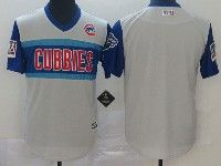 Mens Chicago Cubs Blank Light Gray 2019 Mlb Little League Cool Base Throwbacks Nickname Jersey