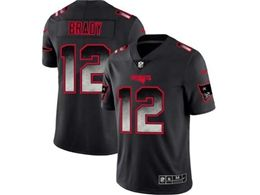 Mens Women New England Patriots #12 Tom Brady Pro Line Black Smoke Fashion Limited Jersey
