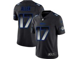 Mens Nfl Buffalo Bills #17 Josh Allen Pro Line Black Smoke Fashion Limited Jersey