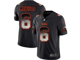 Mens Nfl Cleveland Browns #6 Baker Mayfield Pro Line Black Smoke Fashion Limited Jersey