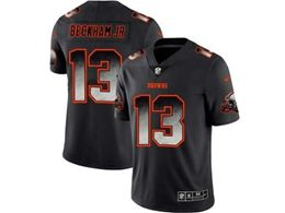 Mens Nfl Cleveland Browns #13 Odell Beckham Jr Pro Line Black Smoke Fashion Limited Jersey