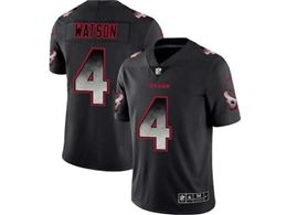 Mens Nfl Houston Texans #4 Deshaun Watson Pro Line Black Smoke Fashion Limited Jersey