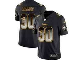Mens Nfl Pittsburgh Steelers #30 James Conner Pro Line Black Smoke Fashion Limited Jersey