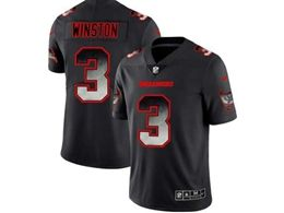 Mens Nfl Tampa Bay Buccaneers #3 Jameis Winston Pro Line Black Smoke Fashion Limited Jersey