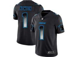 Mens Nfl Carolina Panthers #1 Cam Newton Pro Line Black Smoke Fashion Limited Jersey