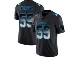 Mens Nfl Carolina Panthers #59 Luke Kuechly Pro Line Black Smoke Fashion Limited Jersey
