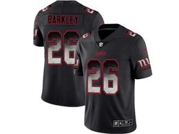 Mens Women Nfl New York Giants #26 Saquon Barkley Pro Line Black Smoke Fashion Limited Jersey