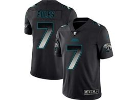 Mens Nfl Jacksonville Jaguars #7 Nick Foles Pro Line Black Smoke Fashion Limited Jersey