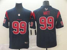 Mens Houston Texans #99 Jj Watt Blue 2019 Color Rush Vapor Untouchable Limited Jersey