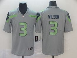 Mens Nfl Seattle Seahawks #3 Russell Wilson Gray Nike Inverted Legend Vapor Untouchable Limited Jersey