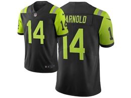 Mens Nfl New York Jets #14 Sam Darnold Black & Green City Edition Nike Vapor Untouchable Limited Jersey