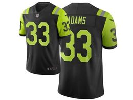 Mens Nfl New York Jets #33 Jamal Adams Black & Green City Edition Nike Vapor Untouchable Limited Jersey