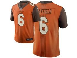 Mens Nfl Cleveland Browns #6 Baker Mayfield Orange City Edition Nike Vapor Untouchable Limited Jersey