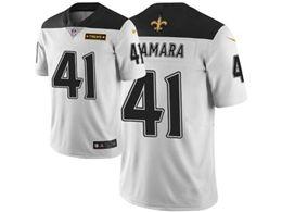 Mens Nfl New Orleans Saints #41 Alvin Kamara White City Edition Nike Vapor Untouchable Limited Jersey