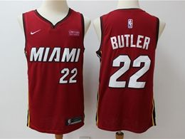 Mens Nba Miami Heat #22 Jimmy Butler Red Nike Swingman Jersey