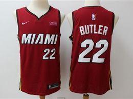 Mens Nba Miami Heat #22 Jimmy Butler Red Nike Swingman Jersey