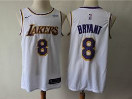 Mens 2019 New Nba Los Angeles Lakers #8 Kobe Bryant White Nike Swingman Jersey