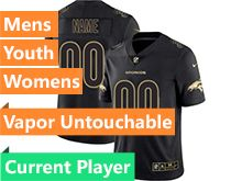 Mens Women Youth Nfl Denver Broncos Current Player Black Gold Vapor Untouchable Limited Jersey