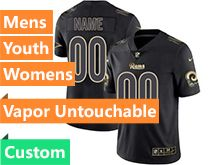 Mens Women Youth Nfl Los Angeles Rams Custom Made Black Gold Vapor Untouchable Limited Jersey