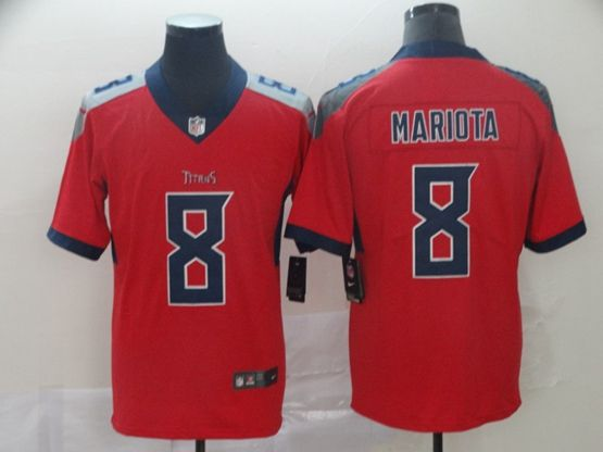 Mens Nfl Tennessee Titans #8 Marcus Mariota Red Nike Inverted Legend Jersey