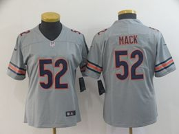 Women Youth Nfl Chicago Bears #52 Khalil Mack Silver Nike Inverted Legend Vapor Untouchable Limited Jersey
