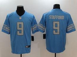 Mens Nfl Detroit Lions #9 Matthew Stafford Blue Nike Inverted Legend Vapor Untouchable Limited Jersey