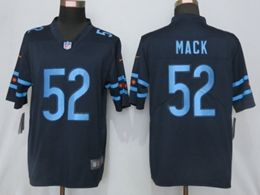 Mens Nfl Chicago Bears #52 Khalil Mack Blue City Edition Nike Vapor Untouchable Limited Jersey
