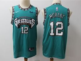 Mens Nba Memphis Grizzlies #12 Ja Morant Green Hardwood Classics Nike Swingman Jersey
