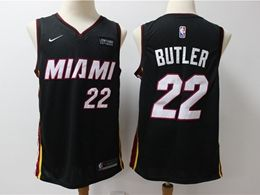 Mens Nba Miami Heat #22 Jimmy Butler Black Nike Swingman Jersey