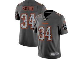 Mens Nfl Chicago Bears #34 Walter Payton Pro Line Gray Fashion Static Vapor Untouchable Limited Jersey