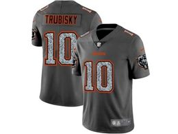 Mens Nfl Chicago Bears #10 Mitchell Trubisky Pro Line Gray Fashion Static Vapor Untouchable Limited Jersey