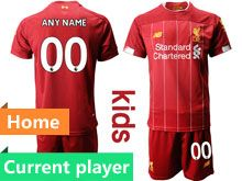 Youth 19-20 Soccer Liverpool Club Current Player Red Home Short Sleeve Suit Jersey