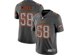 Mens Nfl Denver Broncos #58 Von Miller Pro Line Gray Fashion Static Vapor Untouchable Limited Jersey
