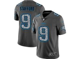 Mens Nfl Detroit Lions #9 Matthew Stafford Pro Line Gray Fashion Static Vapor Untouchable Limited Jersey