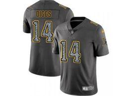 Mens Nfl Minnesota Vikings #14 Stefon Diggs Pro Line Gray Fashion Static Vapor Untouchable Limited Jersey