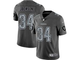 Mens Nfl Oakland Raiders #34 Bo Jackson Pro Line Gray Fashion Static Vapor Untouchable Limited Jersey