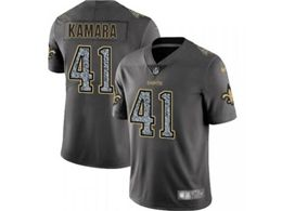 Mens Women Nfl New Orleans Saints #41 Alvin Kamara Pro Line Gray Fashion Static Vapor Untouchable Limited Jersey