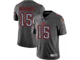 Mens Women Kansas City Chiefs #15 Patrick Mahomes Pro Line Gray Fashion Static Vapor Untouchable Limited Jersey