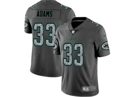 Mes Nfl New York Jets #33 Jamal Adams Pro Line Gray Fashion Static Vapor Untouchable Limited Jersey