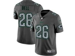 Mes Nfl New York Jets #26 Le'veon Bell Pro Line Gray Fashion Static Vapor Untouchable Limited Jersey