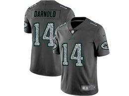 Mes Nfl New York Jets #14 Sam Darnold Pro Line Gray Fashion Static Vapor Untouchable Limited Jersey