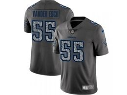 Mens Women Nfl Dallas Cowboys #55 Leighton Vander Esch Pro Line Gray Fashion Static Vapor Untouchable Limited Jersey