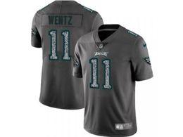 Mens Women Nfl Philadelphia Eagles #11 Carson Wentz Pro Line Gray Fashion Static Vapor Untouchable Limited Jersey