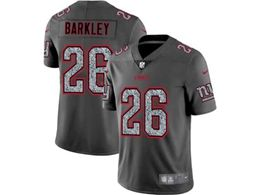 Mens Women Nfl New York Giants #26 Saquon Barkley Pro Line Gray Fashion Static Vapor Untouchable Limited Jersey