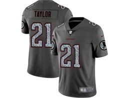 Mens Nfl Washington Redskins #21 Sean Taylor Pro Line Gray Fashion Static Vapor Untouchable Limited Jersey