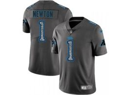 Mens Nfl Carolina Panthers #1 Cam Newton Pro Line Gray Fashion Static Vapor Untouchable Limited Jersey