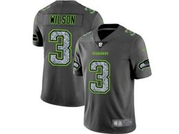 Mens Nfl Seattle Seahawks #3 Russell Wilson Pro Line Gray Fashion Static Vapor Untouchable Limited Jersey
