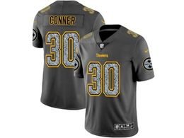 Mens Nfl Pittsburgh Steelers #30 James Conner Pro Line Gray Fashion Static Vapor Untouchable Limited Jersey