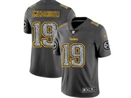 Mens Women Nfl Pittsburgh Steelers #19 Juju Smith-schuster Pro Line Gray Fashion Static Vapor Untouchable Limited Jersey